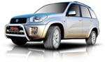 "2006-2009 Toyota Rav4 Bull Bar (2.5"") by Romik"