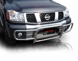 2004-2009 Nissan Titan Bull Bar with Brush Guard by Romik