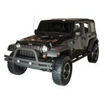 '07-'10 Wrangler JK Front Tube Bumper w/Riser, Textured Black, by Rugged Ridge