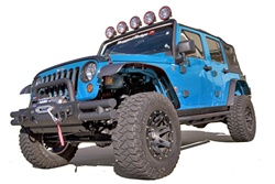 Jeep® JK 2007-2010 6pc. Flat Fender Flares 4 pc. Kit by Rugged Ridge