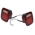 LED TAIL LIGHT SET, JEEP CJ 76-86, YJ 87-95, TJ 97-06, PAIR by Rugged Ridge