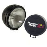 HID OFF ROAD FOG LIGHT, 6-INCH ROUND BLACK by Rugged Ridge