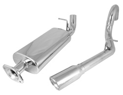 CAT BACK EXHAUST KIT, STAINLESS STEEL, SINGLE RH OUTLET, RUGGED RIDGE, JEEP WRANGLER (TJ) 00-06 WITH 4.0L, 2.5L OR 2.4L