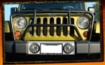Jeep Wrangler JK Black Classic Grille Brush Guard by RealWheels