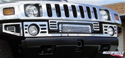 HUMMER H2 03-07 Slotted Bumper Overlay Kit (Front Upper) By Realwheels