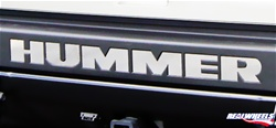 HUMMER H2/SUT Bumper Letter Inserts by RealWheels