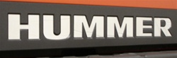 Hummer H3T Rear Bumper Letter Inserts by Real Wheels