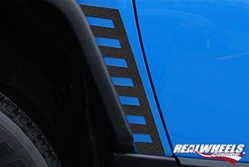 FJ Black Front Lower Accent Trim (2pc Set) by RealWheels