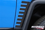 FJ Black Rear Lower Accent Trim (2pc Set) by RealWheels