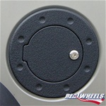 H3T Smooth Black Billet Aluminum Fuel Door by Real Wheels