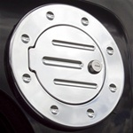 H3T Grooved Billet Aluminum Fuel Door by Real Wheels