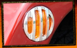 Wrangler Billet Aluminum Side Marker Light Surrounds by Real Wheels