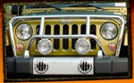 Jeep Wrangler JK Stainless Steel Classic Grille Guard by RealWheels
