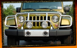 Jeep Wrangler JK Stainless Steel Enforcer Grille Guard by RealWheels