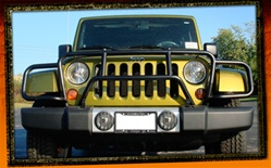 Jeep Wrangler JK Black Enforcer Grille Guard by RealWheels