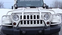 "Jeep JK Wrangler Stainless ""Over-the-Hood"" Grille Guard by RealWheels, RW-RW304-1-J"
