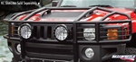 Hummer H3 Over The Hood Wrap Around Brush Guard by Real Wheels