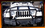 "Jeep JK Wrangler Black or Stainless ""Over-the-Hood"" Grille Guard by Real Wheels - No Lights - Black Powder Coat, RW-RW304-1BP-J"