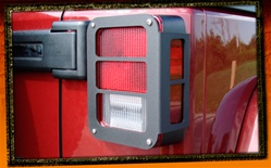 Jeep Wrangler JK Black Tail Light Armor by RealWheels