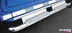 HUMMER H2 Bent Tube W/ Stainless Steel Step, Upper Tube Façade, Plain Back Plate by RealWheels