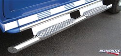 HUMMER H2 Straight Tube W/ Stainless Steel Step, Upper Tube Façade, Plain Back Plate by RealWheels