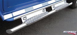 HUMMER H2 Straight Tube W/ Stainless Steel Step, Upper Tube Façade, Lighted LED Back Plate by RealWheels