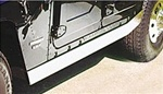 HUMMER H1 Side Rocker Trim - Polished Stainless Steel
