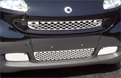 Stainless Steel Front Grille and Fog Lights Overlay by Real Wheals