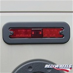 H2 Black Side Marker Light Bezels By Real Wheels