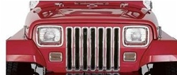 97-06 Jeep Wrangler Ghrome Grille Insert By Rampage