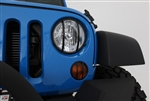 EURO HEADLIGHT CVRS BLK 07-12 WRANGLER JK 2/4DOOR SB-5680