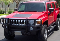 Hummer H3 Grill Guard Black or Stainless Steel by Steelcraft