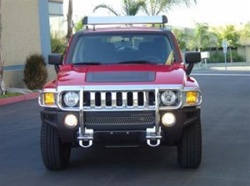 Hummer H3 OE Style Grill Guard Black or Stainless Steel by Steelcraft
