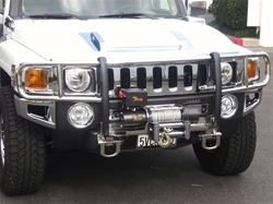Hummer H3/H3T Stainless Steel Winch Brushguard by Steelcraft