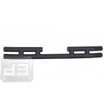 Black Double Tubular Rear Bumper 2/4dr.  TEAKA-10200