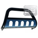 Black Bull Bar w/ Polished Stainless Skid Plate TEAKA-60217