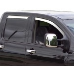 Chrome ABS Window Visors (4 pcs.) TEAKA-72802