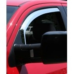 Chrome ABS Window Visors (2 pcs. Fronts Only) TEAKA-72905