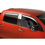 Double Cab Chrome ABS Window Visors ( 4 pcs.) TEAKA-72908