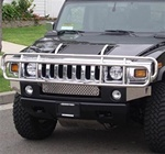 HUMMER H2 OEM Brush Guard Stainless Steel Grill Guard