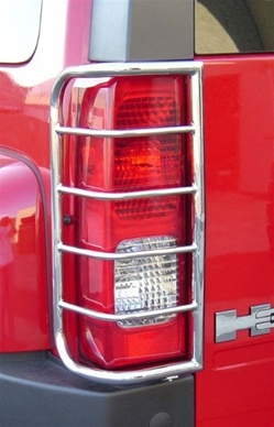 Hummer H3 Taillight Guard Set - Stainless Steel