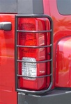 Hummer H3 Taillight Guard Set - Black Powder Coat