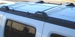 Hummer H3 Roof Rack Cross Bars OEM Style w/ HUMMER Letters inserts - Silver Bar Finish