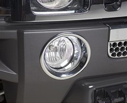 H3 ABS Chrome Fog Lamp Trim Rings