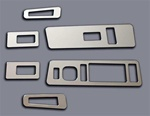 2003-09 Hummer H2 Billet Aluminum Chrome Door Switch Plates Set