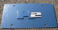 HUMMER, H2, Vanity, License, Plate, by TEAKA-H2TAG, H2TAG, TAG, Front, accessories