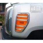 Billet Aluminum Chrome Side Marker Light Covers TEAKA-H3-1501-C