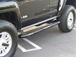Hummer H3 Black Powder Coat Side Bar Set by TrailFX