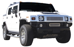 2003-2007 Hummer H2 - Upper Class Polished Stainless Mesh Grille - With Formed Mesh Center TR-54290