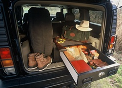 Hummer H2 Vault System - With Spare Tire Inside by Truck Vault